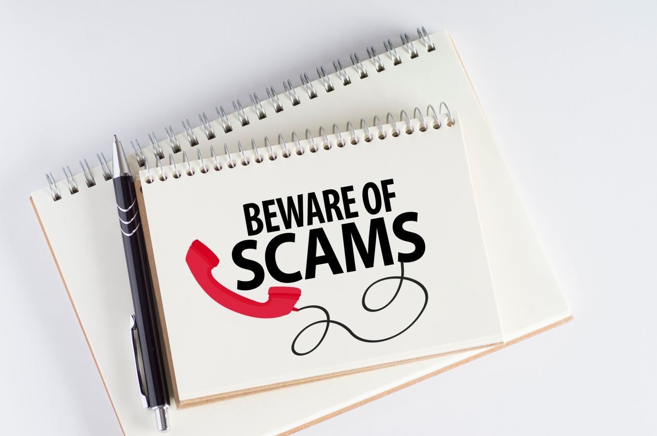 Beware of Scams Notebook and Pen