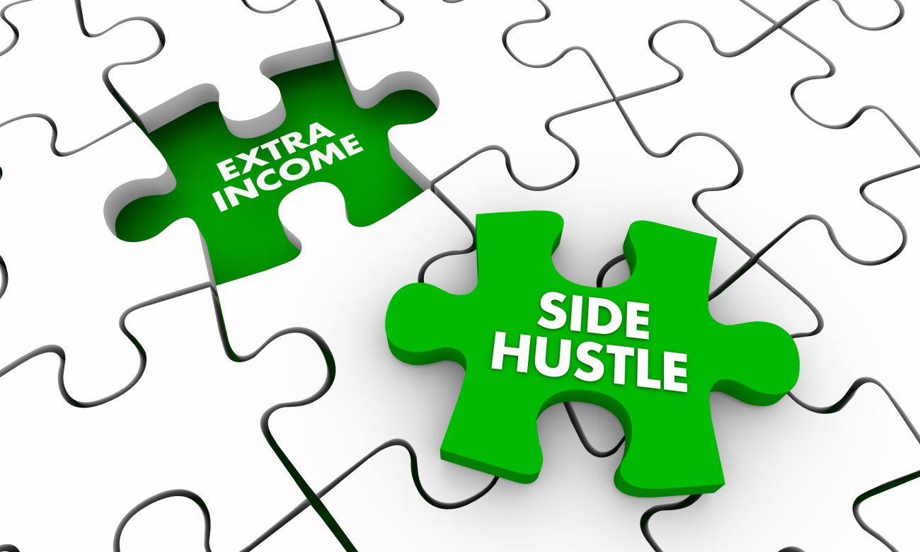 Puzzle with Pieces Named Side Hustle & Extra Income
