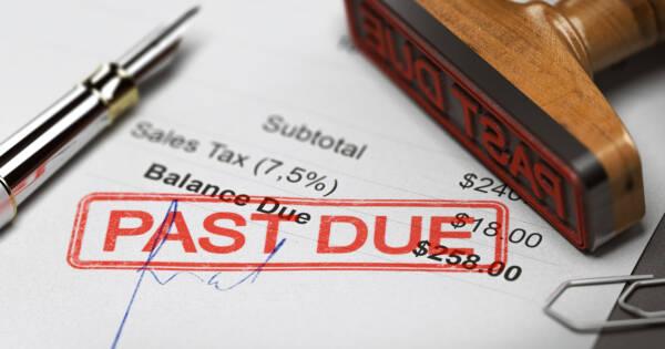 Past Due Stamp on Debt Letter