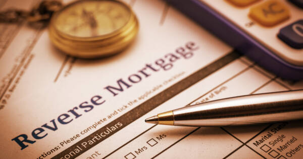 Reverse Mortgage Application on Table