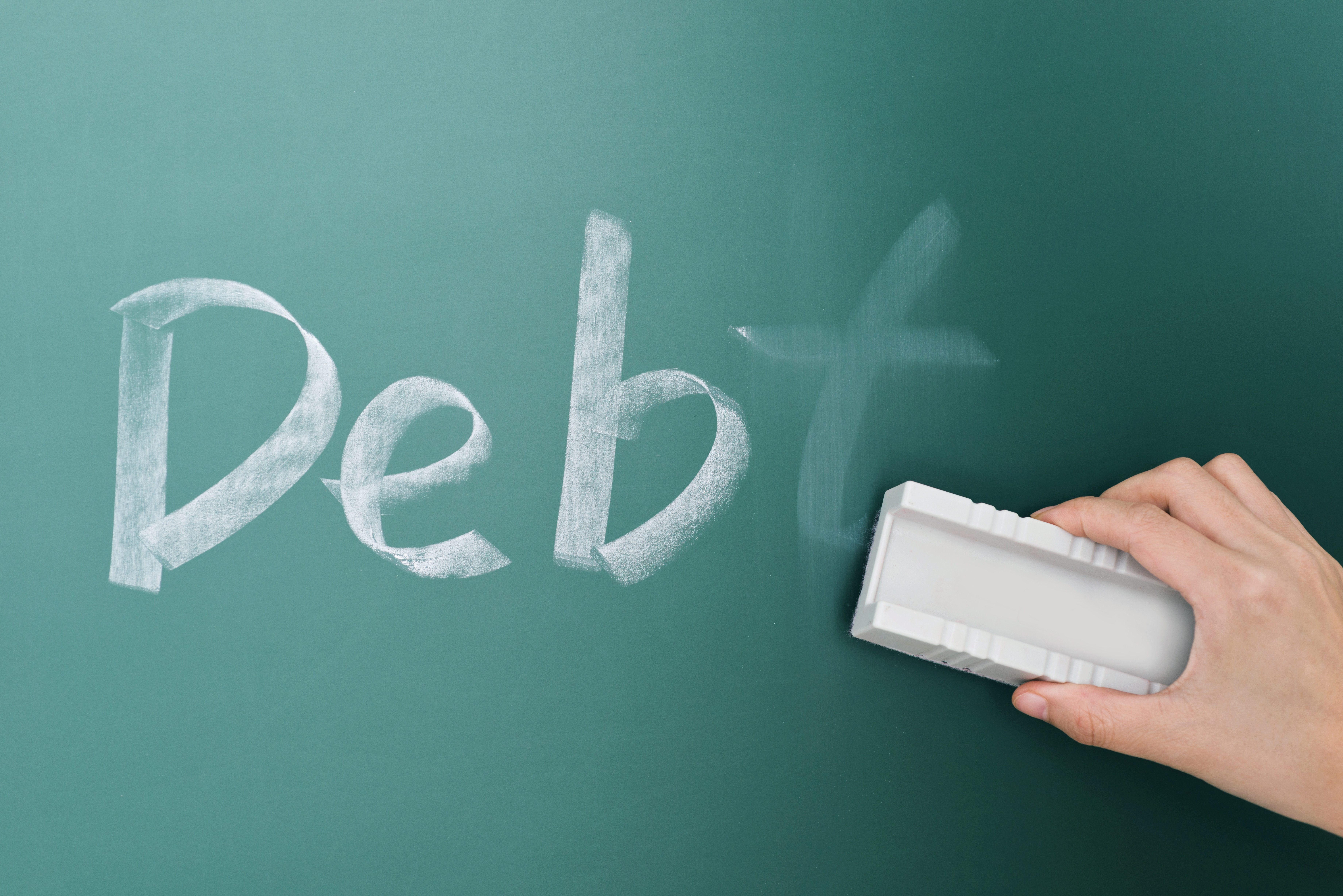 Debt Erased from Chalkboard