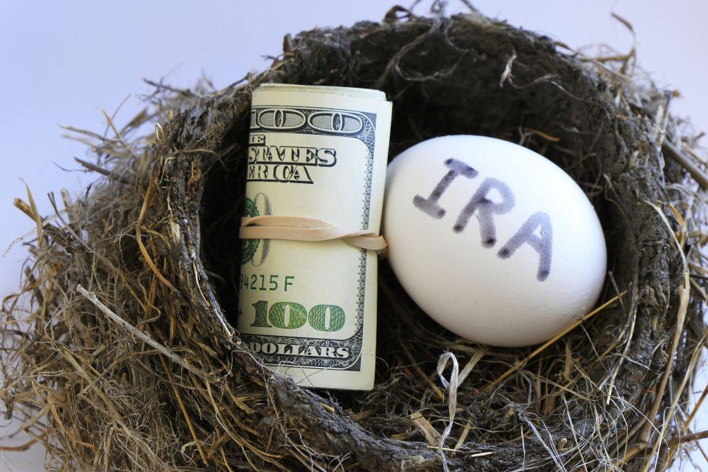 Money Roll & IRA egg in Bird Nest