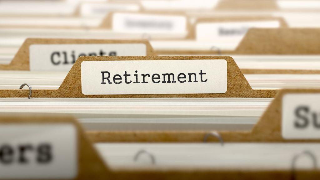 Manilla Folder Labeled Retirement