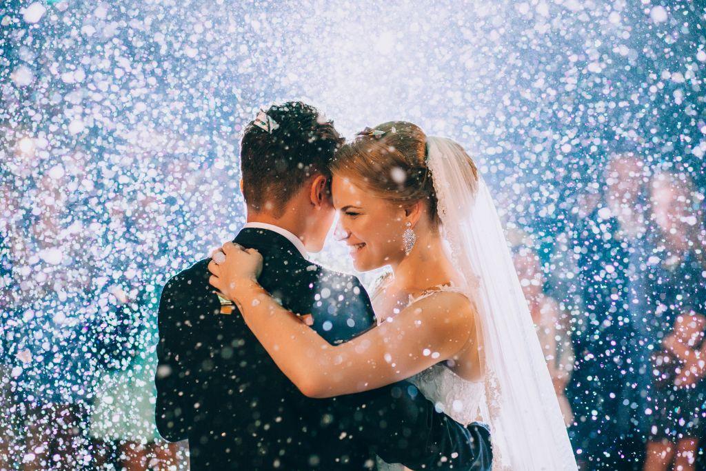 Couple Celebrating Wedding Life Event