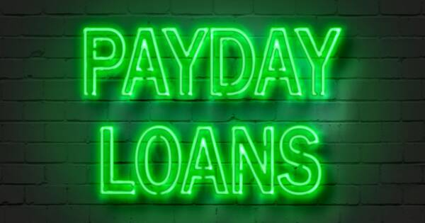 Payday Loans Neon Green Sign