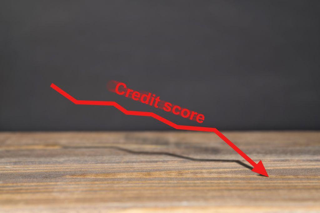 Credit Score Graph Dropping