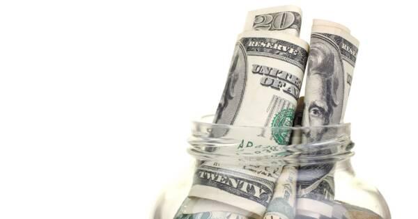 Mason Jar Full of Money