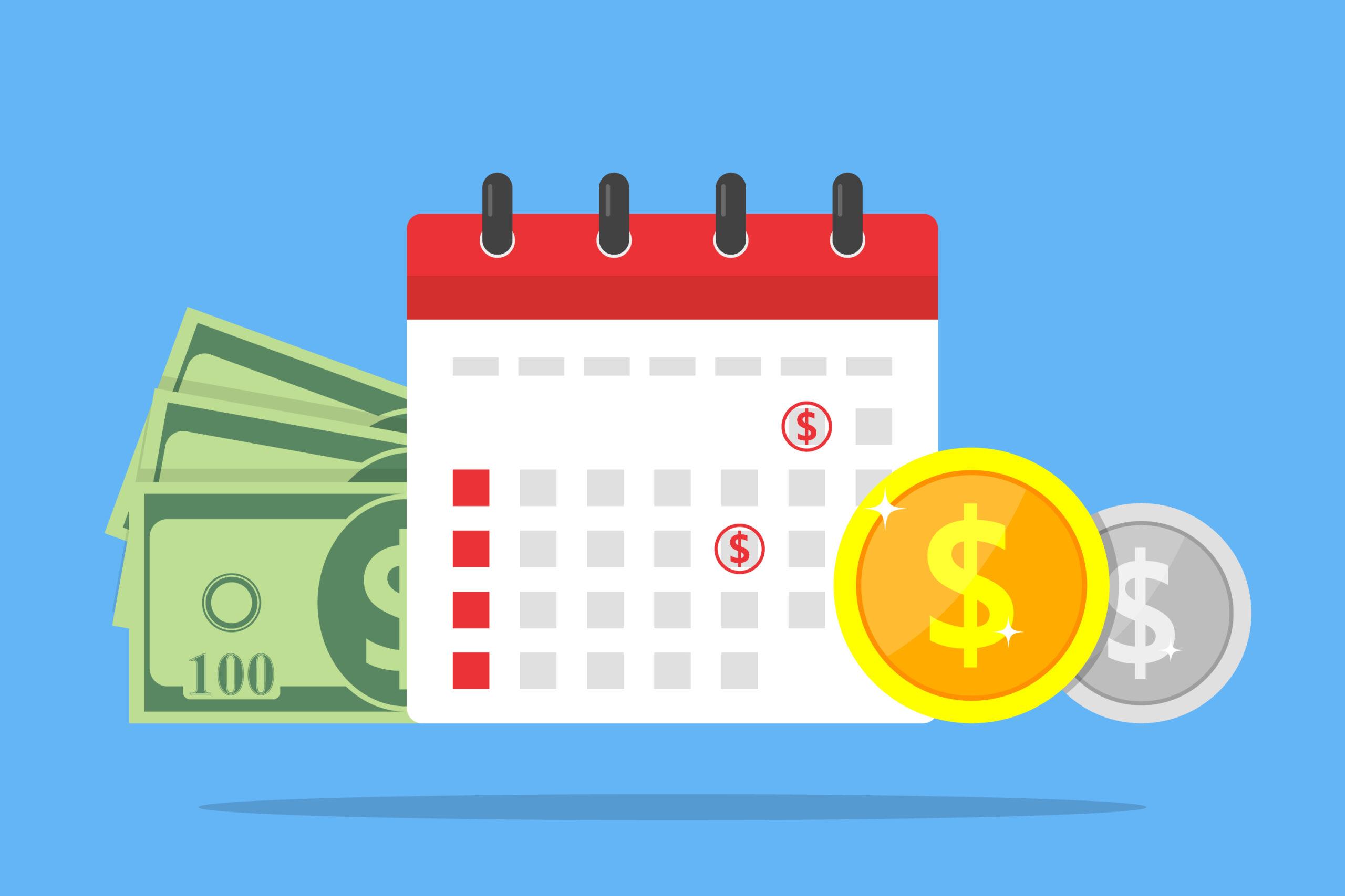 Cash, Coins & Calendar