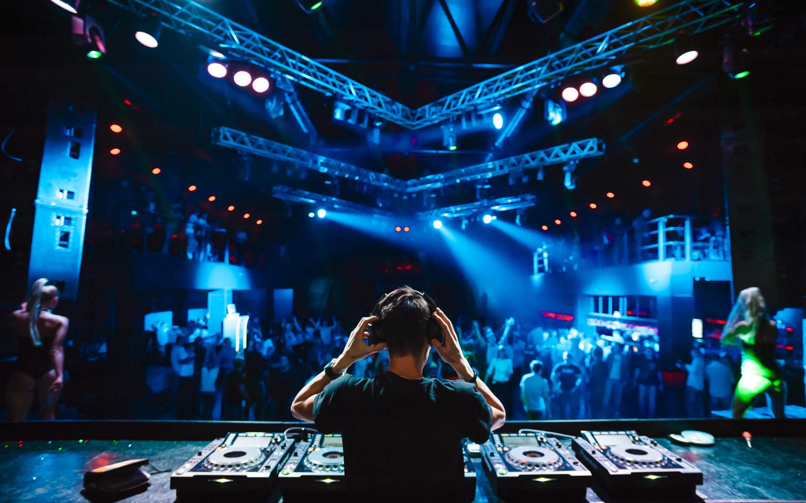 DJ in nightclub