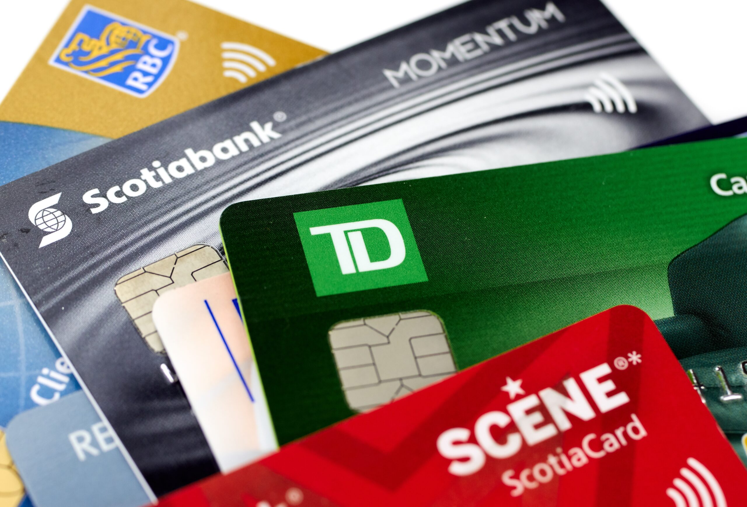 Multiple Credit Cards Stacked on One Another