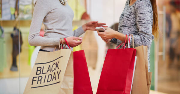 Women Shopping Together on Black Friday
