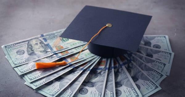 Graduation Cap With Cash