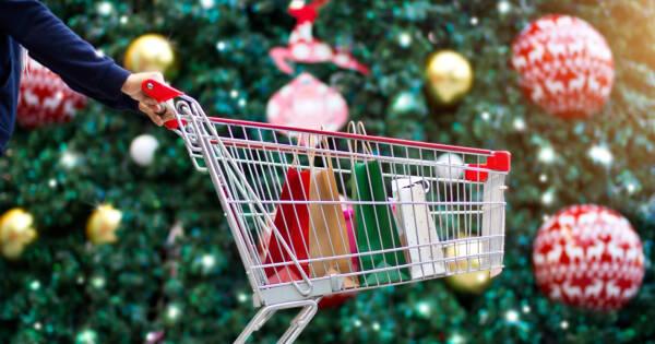 Christmas Shopping Cart