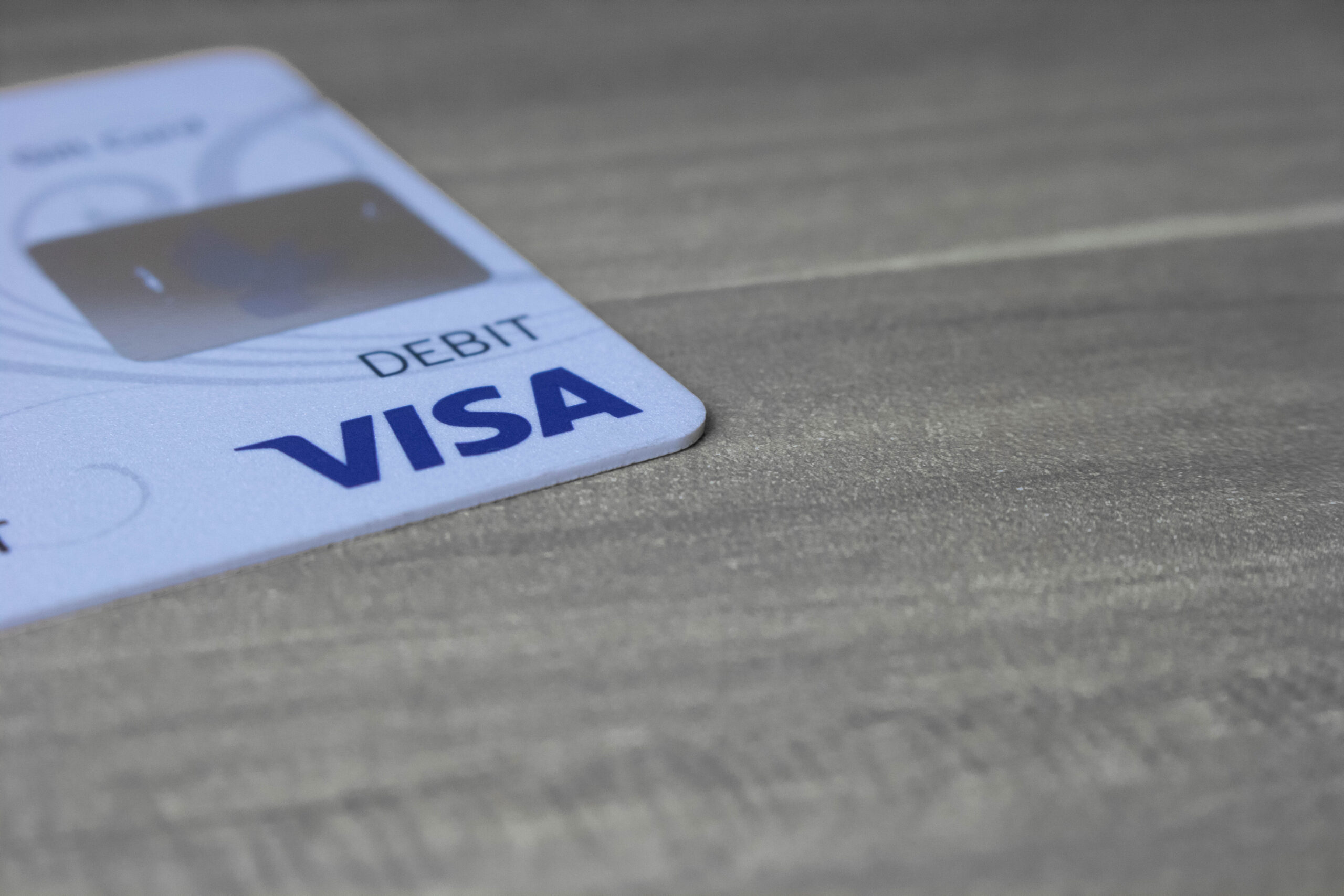 Payment Credit Card Resting on Desk