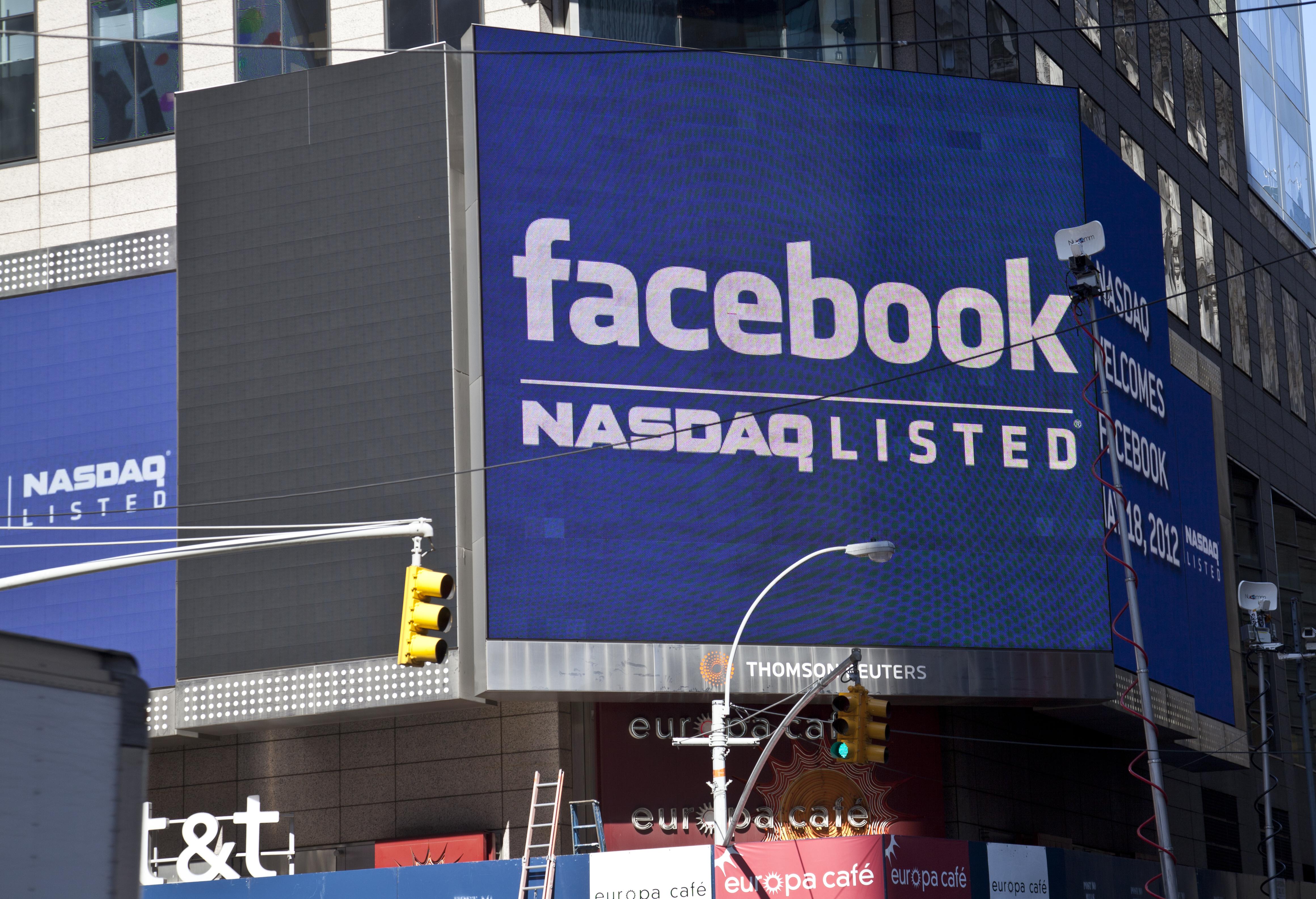 Facebook stock listing announcement