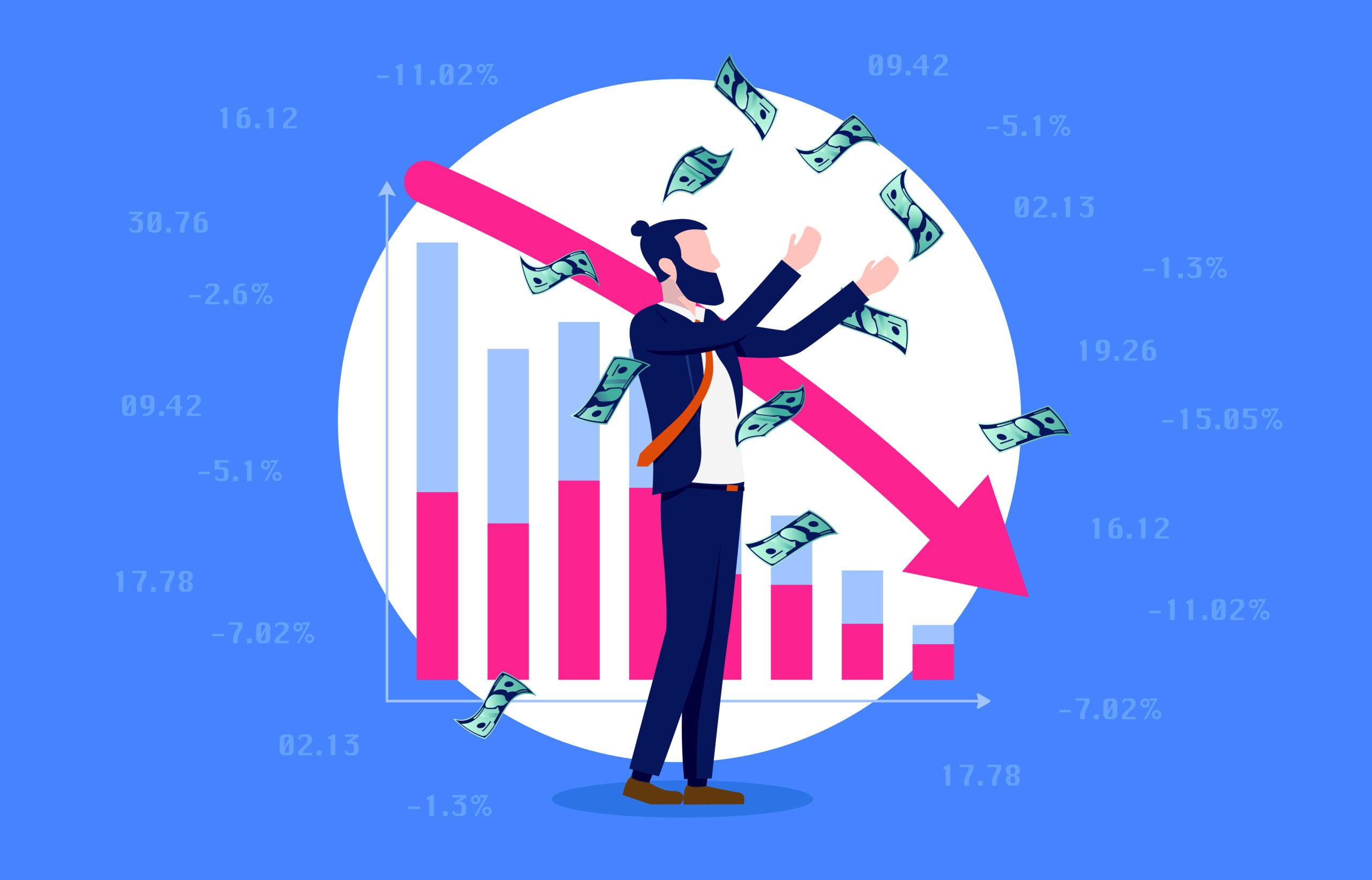 Man making money by short selling stocks