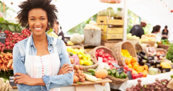 Woman at Farmers' Market