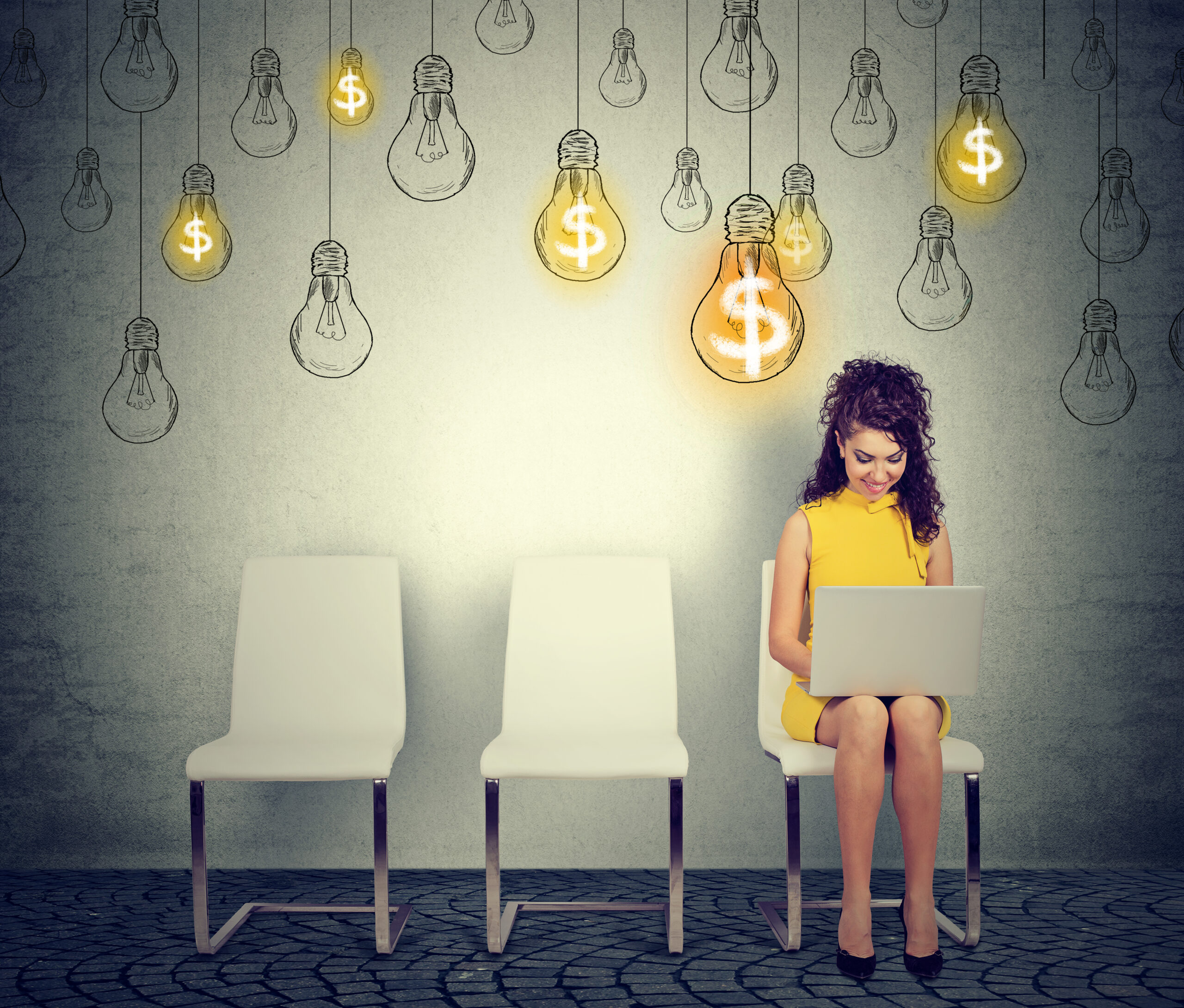 Woman calculating electric bill costs