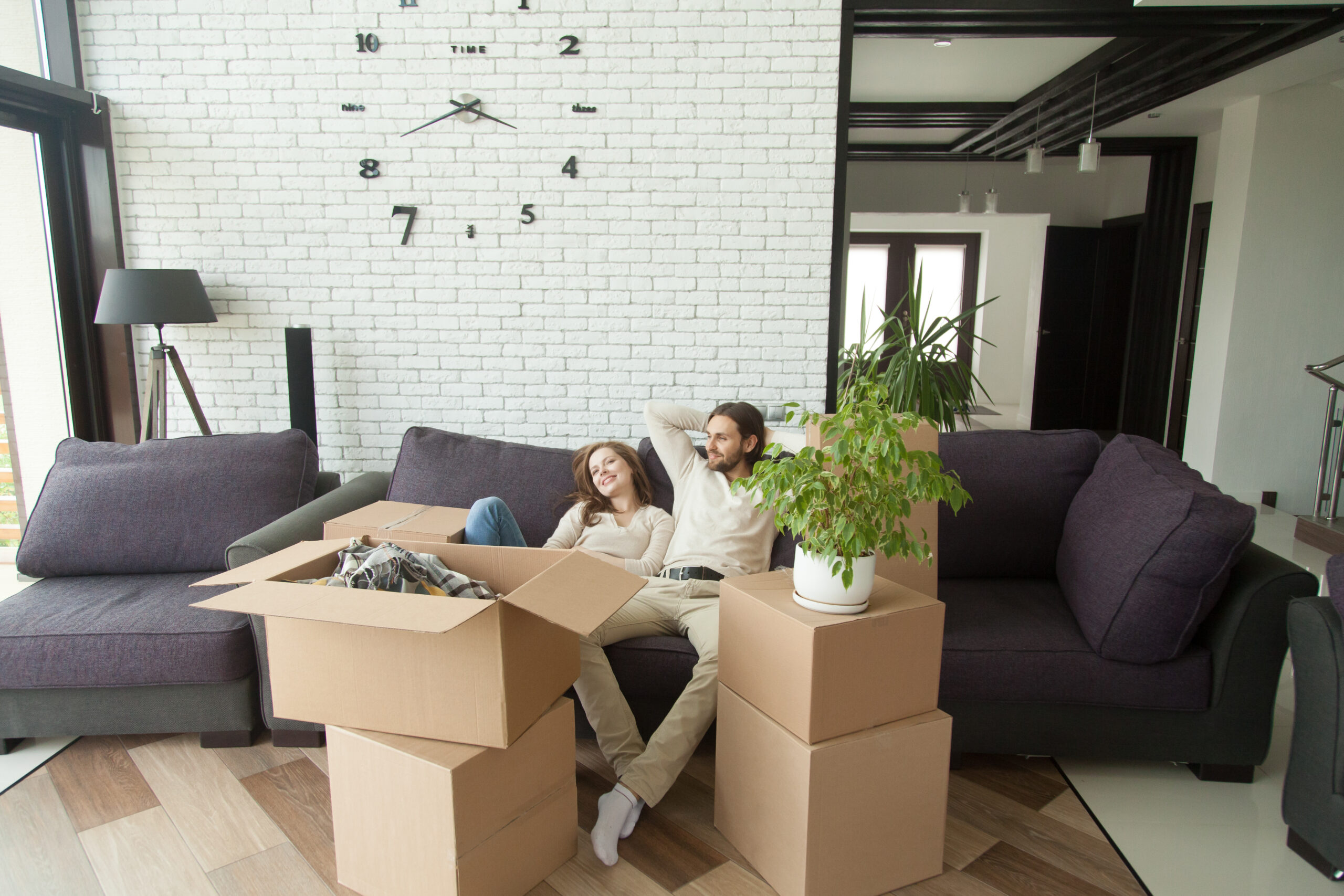 Couple moving into their first apartment