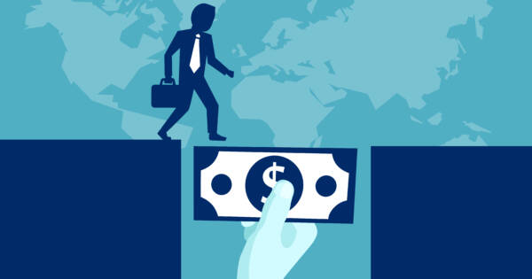 vector illustration of bridge loan