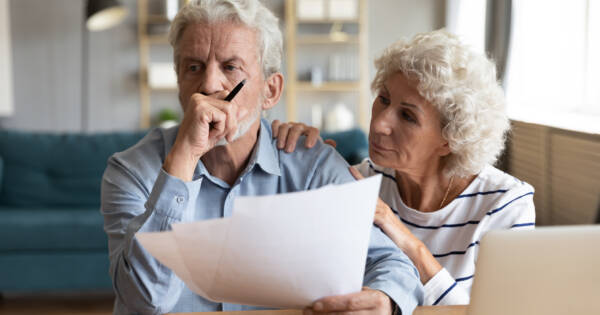 Retired couple worried about expenses