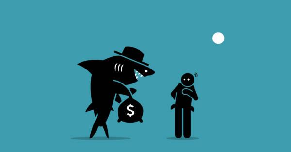 Vector illustration of loan shark