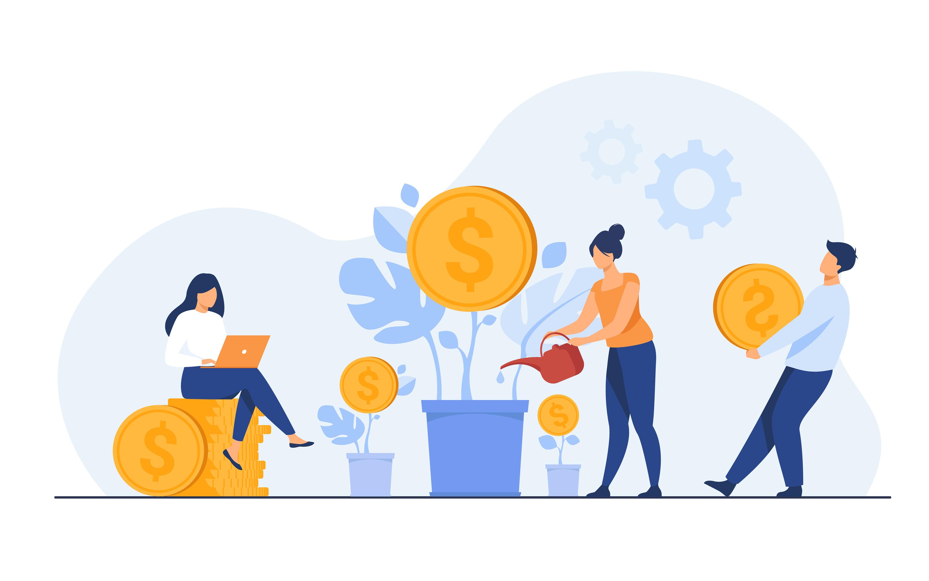 Vector illustration on budgeting