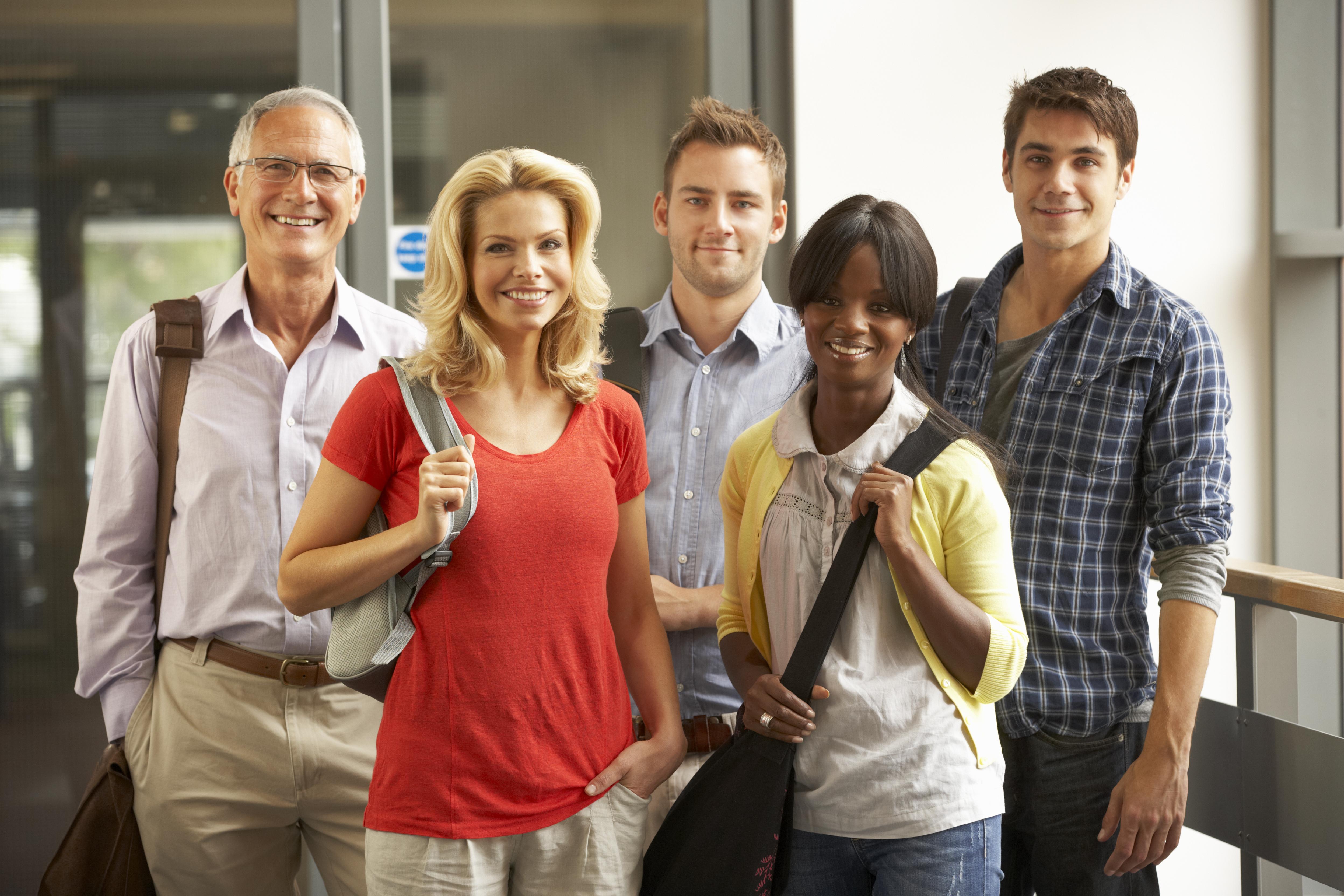 older students attending college