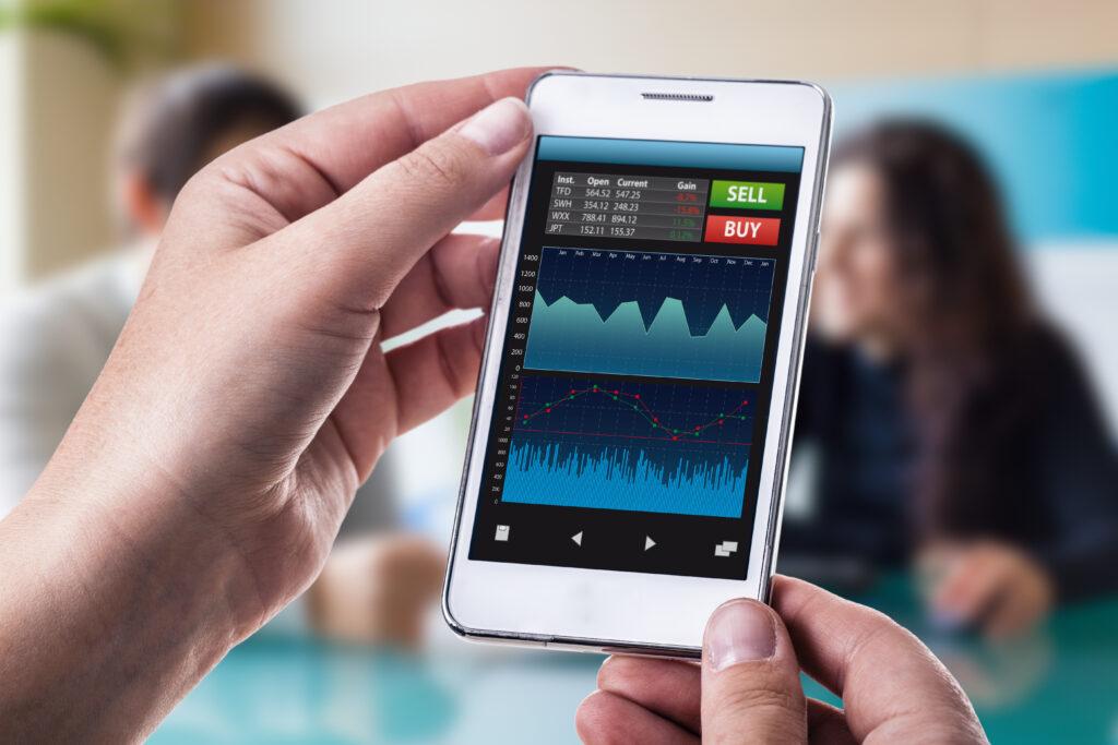Trading Stocks on Mobile Phone