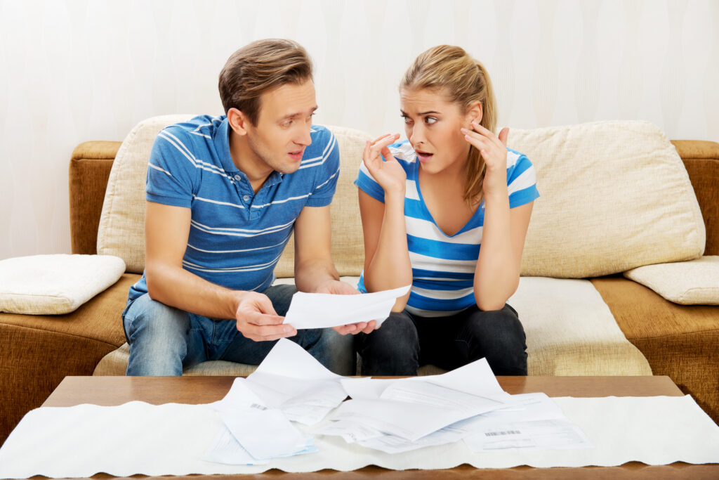 Couple Upset by Finance Documents