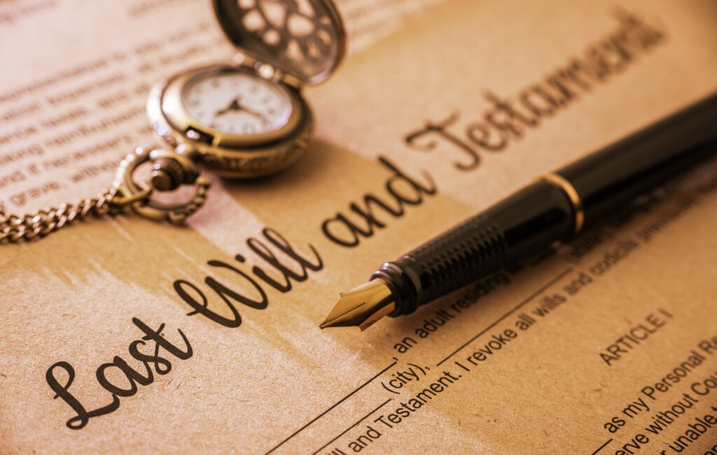 Last Will and Testament with Pocket Watch