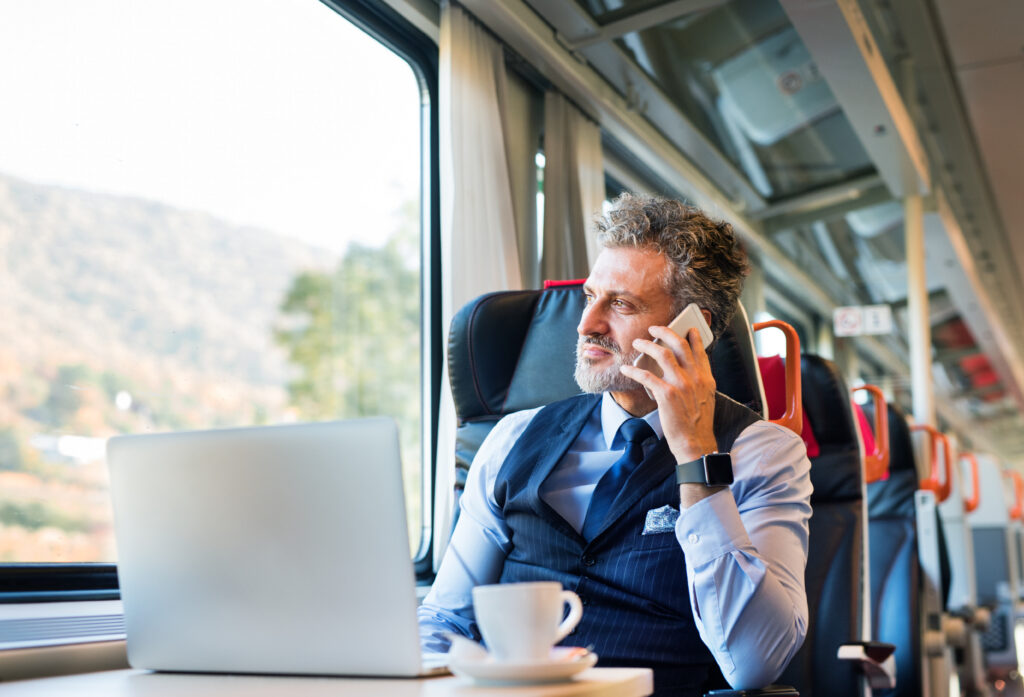 Man Traveling Via Train to a Different State