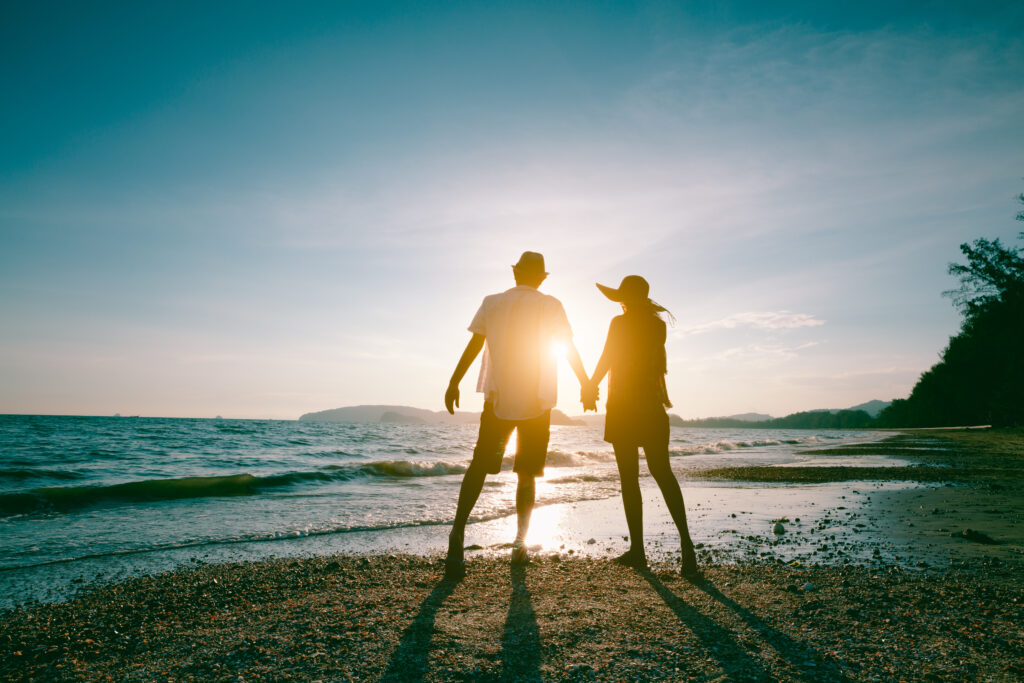 Retiring Couple Enjoying the Beach