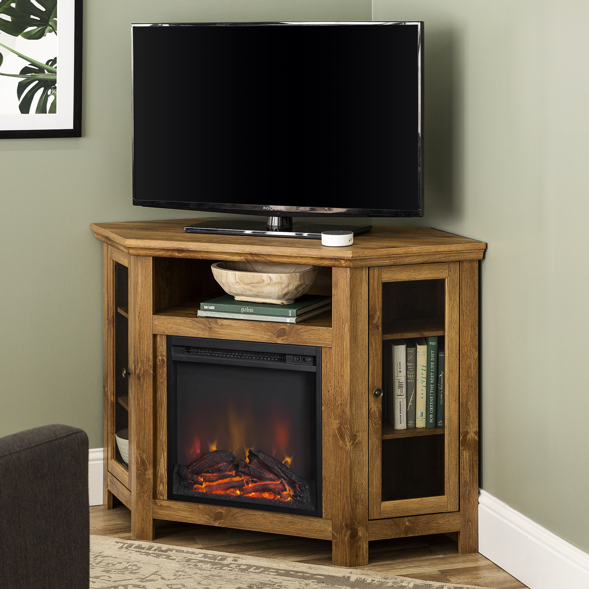 Fake Fireplace TV Stand