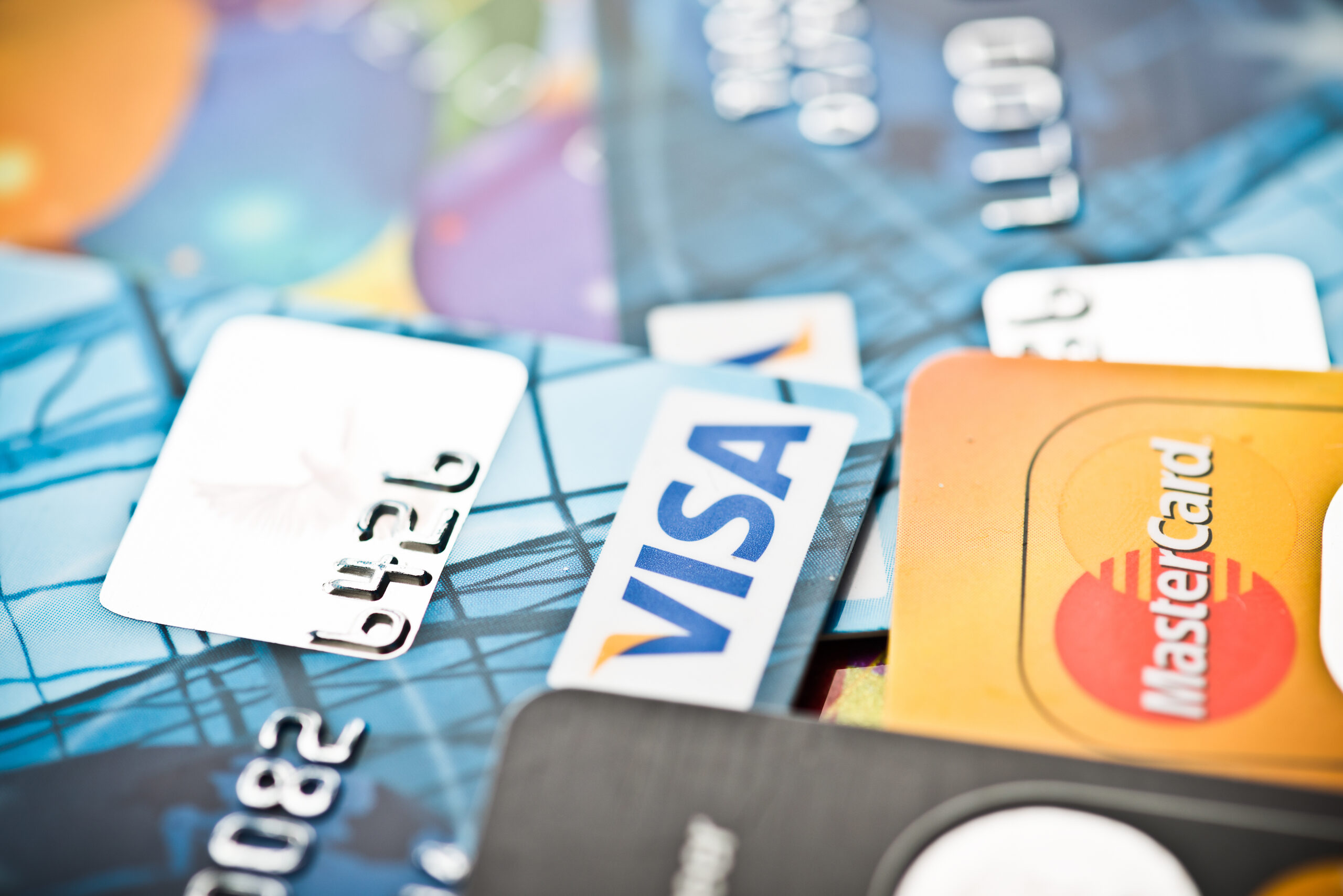 Credit Cards Overlapping