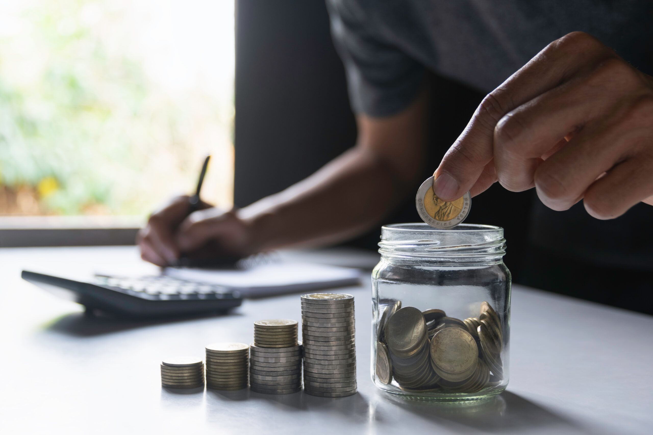 Counting Saved Money in a Jar
