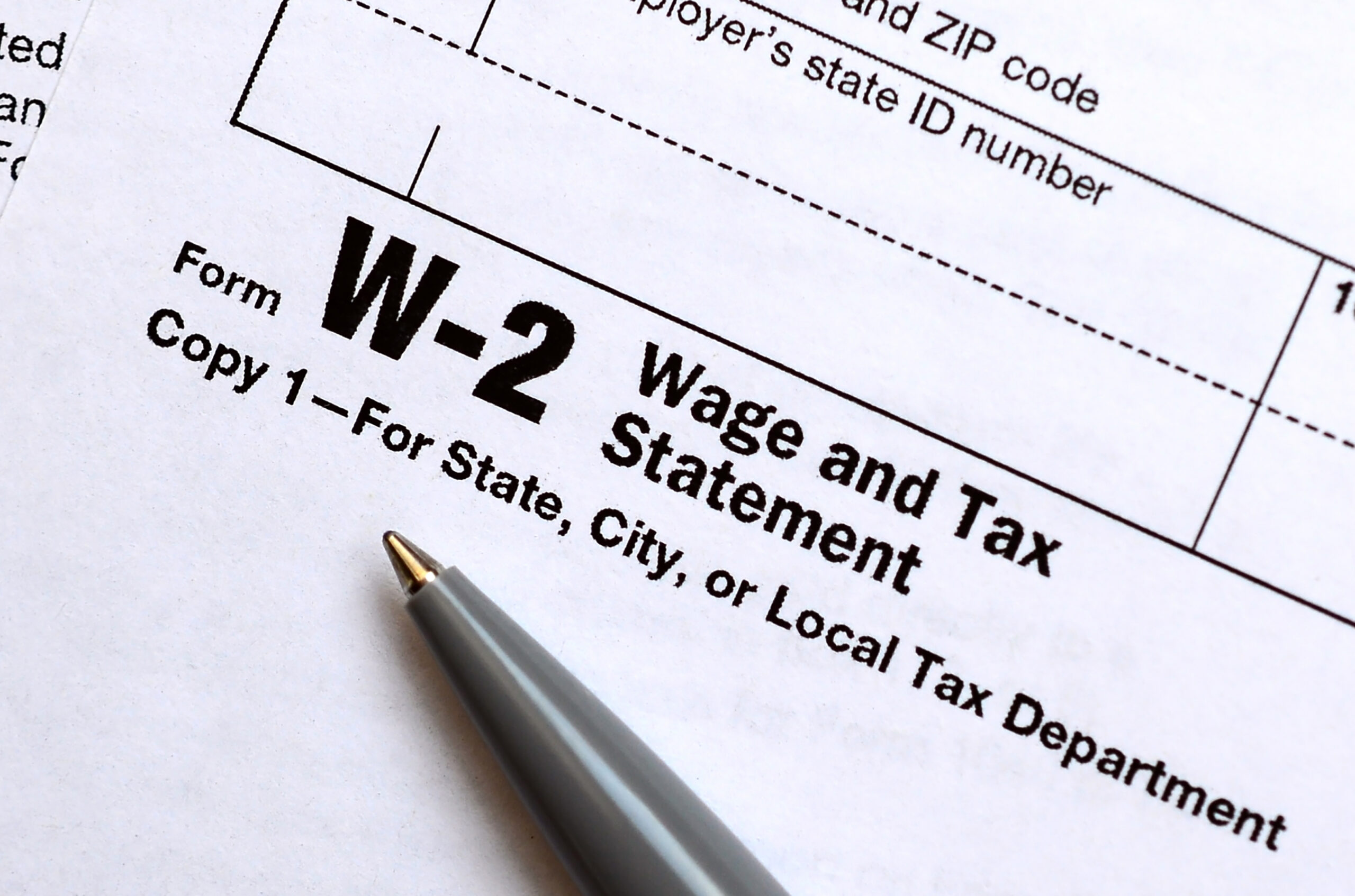 Gross Adjusted Income W2 Form